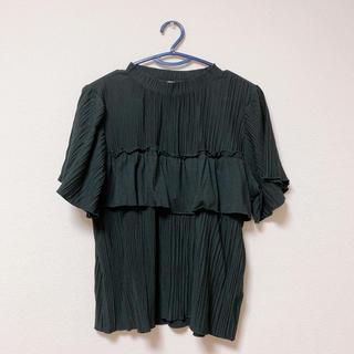 レトロガール(RETRO GIRL)のレトロガール 黒ブラウス Mサイズ(シャツ/ブラウス(半袖/袖なし))