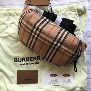 バーバリー(BURBERRY)の新品 未使用 Burberry ミディアム ヴィンテージチェック バムバッグ(ボディーバッグ)