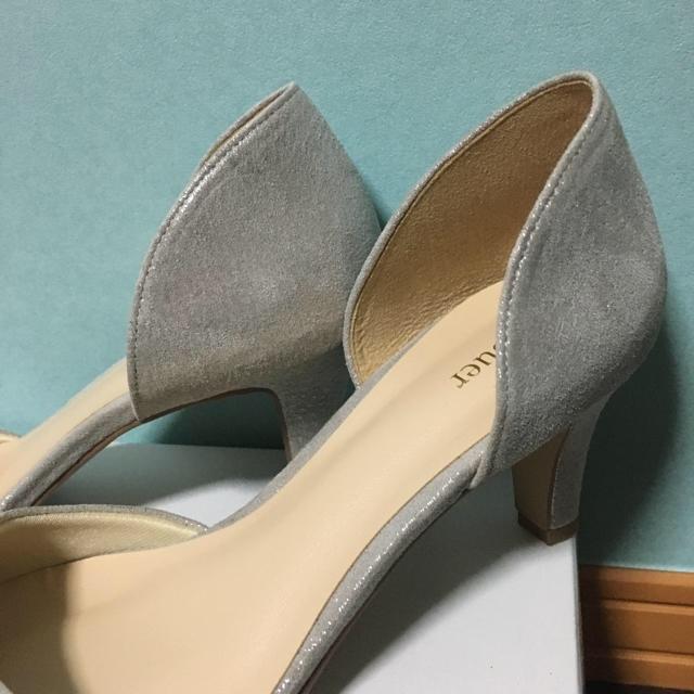 セパレートパンプス ベージュ レディースの靴/シューズ(ハイヒール/パンプス)の商品写真