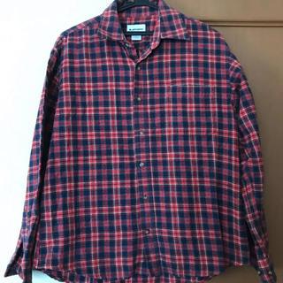 コンバース(CONVERSE)の赤チェックシャツ(Tシャツ(長袖/七分))