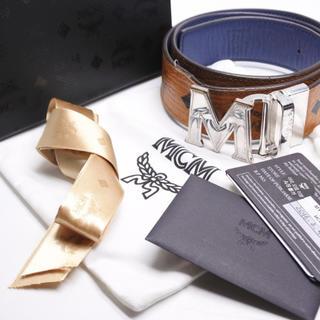 エムシーエム(MCM)のMCM ベルト ユニセックス バックル付き 箱付き ブラウン ブラック 中古 (ベルト)