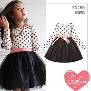 アウトレット⭐︎ドットラメチュールワンピース 125cm(140) 海外子供服(ワンピース)