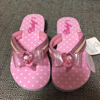 マザウェイズ(motherways)の新品 マザウェイズ サンダル 21 ピンク 女の子 草履 21.0 女児 リボン(サンダル)