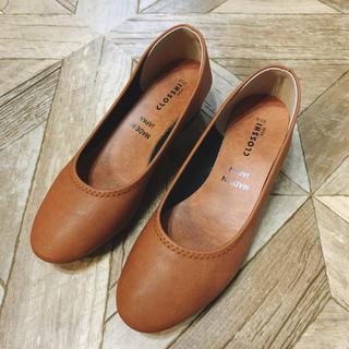 シマムラ(しまむら)のキャメル 靴 23.0 closshi(ハイヒール/パンプス)