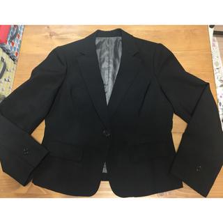 ニッセン(ニッセン)の事務服💜黒の無地💜13号💜スーツ💜プリーツスカート💜(スーツ)