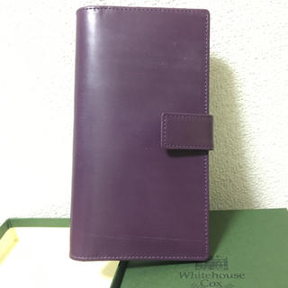 ホワイトハウスコックス(WHITEHOUSE COX)のホワイトハウスコックス 長財布 ブライドルレザー パープル(財布)