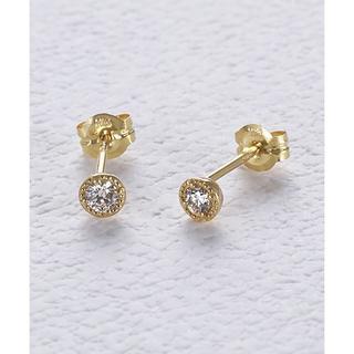 アガット(agete)のagete K18 ダイヤモンド ピアス ¥37,400(ピアス)