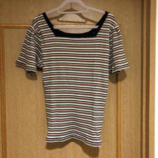 ヘザー(heather)のHeather Tシャツ ボーダー(Tシャツ(半袖/袖なし))