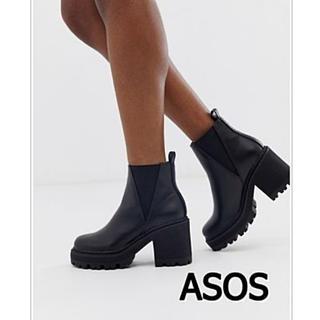 エイソス(asos)の新品未使用 ASOS エイソス サイドゴアレザーチャンキーブーツ(ブーツ)