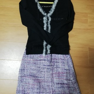 ナチュラルビューティーベーシック(NATURAL BEAUTY BASIC)のanysisトップス natural beauty basic スカート(セット/コーデ)
