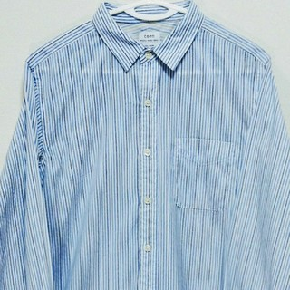 コーエン(coen)のドライファブリックリバーストライプレギュラーカラーシャツ(シャツ)