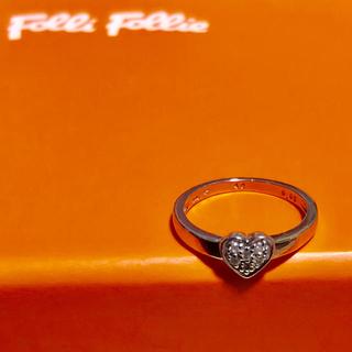 フォリフォリ(Folli Follie)のFolli Follie k10WG ダイヤモンド ピンキーリング 1号(リング(指輪))