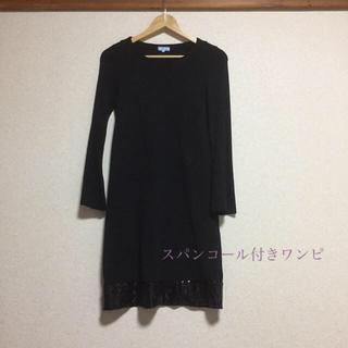スーツカンパニー(THE SUIT COMPANY)のワンピース  黒(ひざ丈ワンピース)