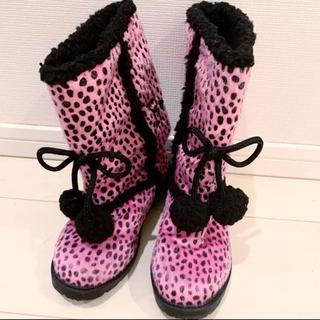 ロニィ(RONI)の美品 未使用 ロニィ RONI ヒョウ柄ブーツ 20センチ(ブーツ)