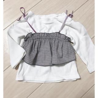 プティマイン(petit main)のプティマイン❁︎ビスチェ付きトップス❁︎80(Tシャツ)