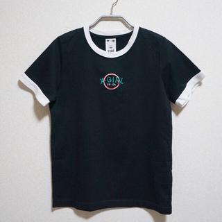 エックスガール(X-girl)のX-girl CIRCLE RINGER S/S TEE BLACK(Tシャツ(半袖/袖なし))