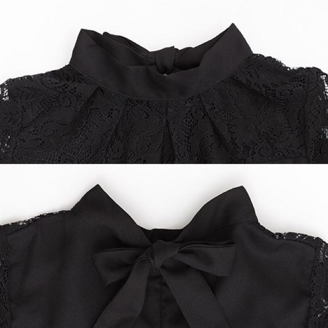 merlot(メルロー)のmerlot plus バックリボン デコルテレース ドレス ワンピース レディースのフォーマル/ドレス(ロングドレス)の商品写真