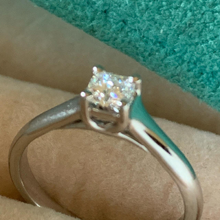ティファニー(Tiffany & Co.)のティファニールシダダイヤモンド0.227ct E-IFリングpt950(リング(指輪))