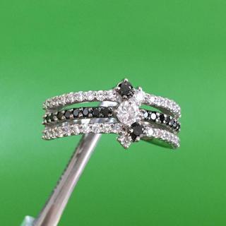 Pt900 ブラックダイヤモンド ダイヤモンド リング 指輪(リング(指輪))