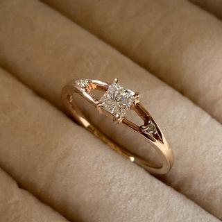 【高級品質】無色透明0.376ct天然ダイヤモンドリング(リング(指輪))