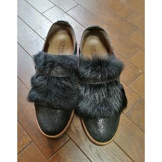 エンフォルド(ENFOLD)の☆SOFTWaves☆2wayリアルファー付革スリッポン?(ローファー/革靴)