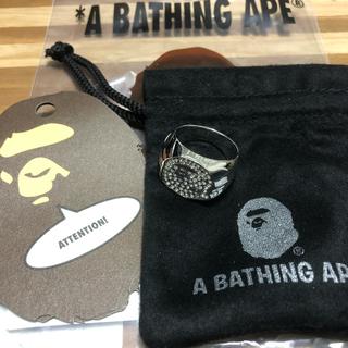 アベイシングエイプ(A BATHING APE)の【未使用】22号RHINESTONE APE HEAD RING (リング(指輪))