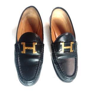 エルメス(Hermes)のHERMES エルメス コンスタンス Hバックルローファー 23cm 状態良好(ローファー/革靴)