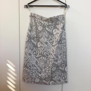 ハナエモリ(HANAE MORI)のHanae Mori デザイン Aラインスカート(ひざ丈スカート)