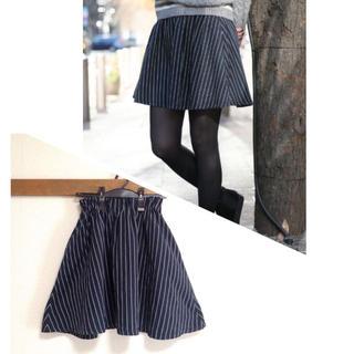 ローリーズファーム(LOWRYS FARM)の美品 ストライプスカート (ミニスカート)
