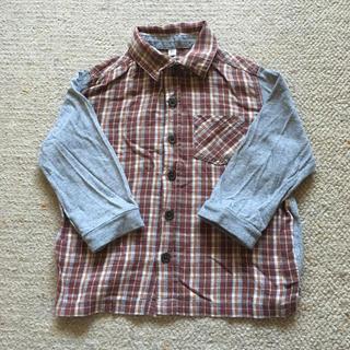 ムジルシリョウヒン(MUJI (無印良品))の無印良品 長袖チェックシャツ90センチ(ブラウス)