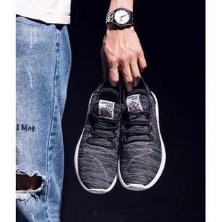 ブラック25.0cmスニーカー男女兼用フィットネスシューズ靴ジョギング(スニーカー)