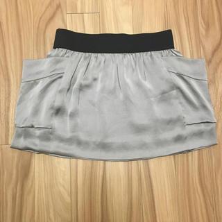 ローズバッド(ROSE BUD)のサテン♡モスグリーン♡ミニスカート(ミニスカート)