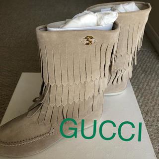 グッチ(Gucci)の交渉歓迎中様専用GUCCI フリンジブーツ 19cm(ブーツ)
