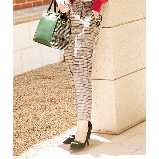 31 Sons de mode(トランテアンソンドゥモード)のトランテアン パール付きフリルパンプス レディースの靴/シューズ(ハイヒール/パンプス)の商品写真