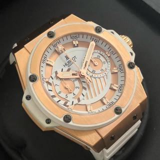 ウブロ(HUBLOT)の210万 ウブロ キングパワー フドロワイヤント 100本限定 18K 超美品(腕時計(アナログ))