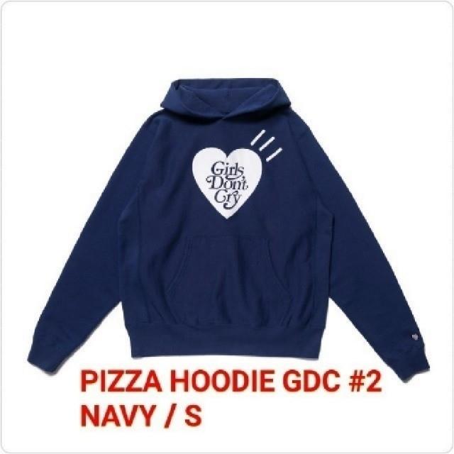 GDC(ジーディーシー)のGDC PIZZA HOODIE GDC #2 NAVY / S ③ メンズのトップス(パーカー)の商品写真