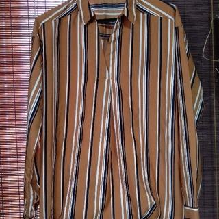 シューラルー(SHOO・LA・RUE)のお買い得!シューラルー  マルチストライプ   スキッパーシャツ(シャツ/ブラウス(長袖/七分))