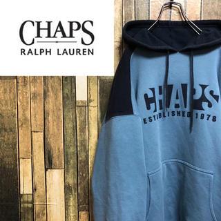 CHAPS - 【激レア】チャップスラルフローレン☆ビッグロゴバイカラースウェットパーカー90s