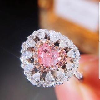 ♡ハートシェイプピンクダイヤモンドリング(リング(指輪))