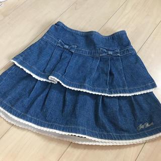 ジルスチュアート(JILLSTUART)の【美品】ジルスチュアート デニムスカート 120(スカート)