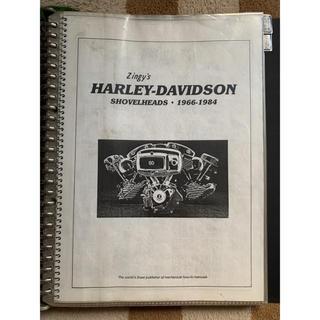ハーレーダビッドソン(Harley Davidson)の【激レア】ジンギーズ ショベル カスタムブック(カタログ/マニュアル)