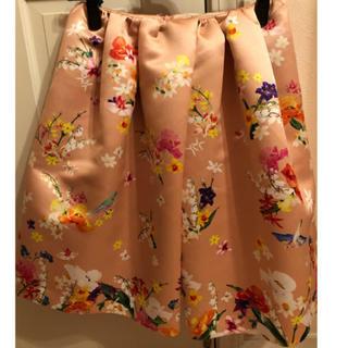 チェスティ(Chesty)のchesty チェスティ 小鳥スカート ピンク サイズ1(ひざ丈スカート)