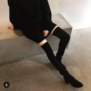 ジーナシス(JEANASIS)の未使用 ジーナシス jeanasis リブニーハイブーツ ブラック(ブーツ)