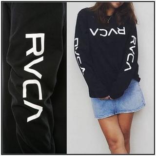 ルーカ(RVCA)のRVCA BIG FLIP RVCA LS TEE ロングスリーブTシャツ 黒S(Tシャツ(長袖/七分))
