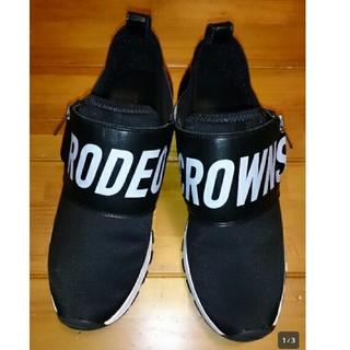 ロデオクラウンズ(RODEO CROWNS)のロデオクラウンズ*ビッグロゴ スニーカー*シューズ 24cm(スニーカー)
