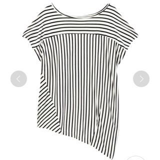 アンタイトル(UNTITLED)のUNTITLED 裾アシンメトリー ボーダー カットソー(カットソー(半袖/袖なし))