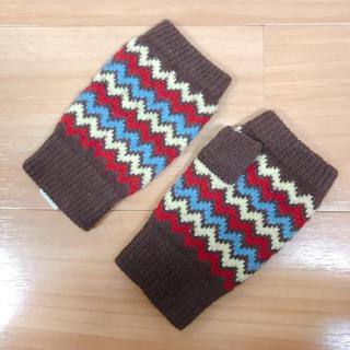 トゥモローランド(TOMORROWLAND)の1度のみの利用 美品 手袋 ニット ミトン 指なし 防寒(手袋)
