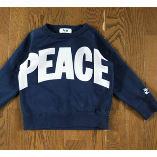 アクネ(ACNE)の送料込100~110ACNEアクネPEACEプリントスウェット子供キッズジュニア(Tシャツ/カットソー)