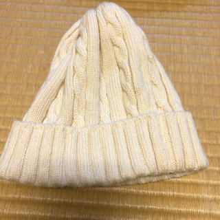 メゾンドリーファー(Maison de Reefur)のお値下メゾンドリーファ 白帽ニット(ニット帽/ビーニー)