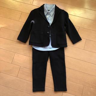 シップス(SHIPS)の黒スーツ上下とシャツの3点セット(ドレス/フォーマル)